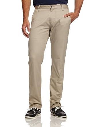 Dockers Men's Alpha Khaki Mission Wash Original Slim Trousers, Safari Beige, 29W/32L
