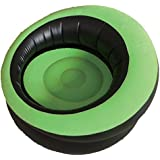 Sentik Single Inflatable Flocked Blow Up Chair Sofa Camping Sun Lounger Gaming Pod Seat