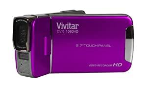 "Vivitar DVR 1080HD Touch Screen Camcorder - Purple (12.1MP, 2.7"" Full Touch Screen, 4x Digital Zoom, Super Slim Body, Lithium Battery) from Vivitar"