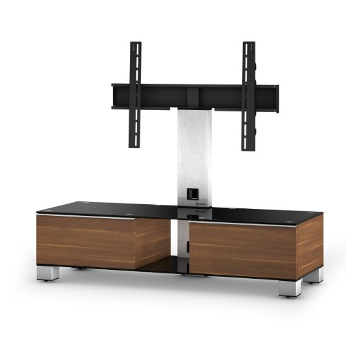 Sonorous Mood Cantilever TV Unit for Up to 50 inch TVs - Walnut