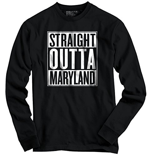 Straight Outta Maryland State Funny Movie T Shirts Gift Ideas Long Sleeve Tee (Party City Baltimore Md)