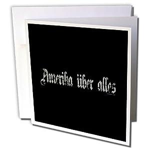 Mark Andrews ZeGear Cool - Amerika Uber Alles on Black Background - 6 Greeting Cards with envelopes (gc_60809_1)