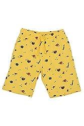 Chalk by Pantaloons Boy's Cotton Shorts (205000005605619, Yellow, 5-6 Years)