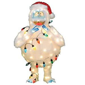 Product works pre lit faux fur bumble with for Abominable snowman outdoor decoration