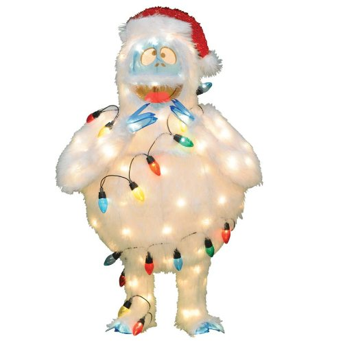 Bumble abominable snowman yard decoration for Abominable snowman christmas decoration