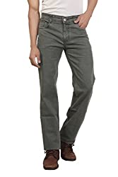 Wood's Green Colored Solid Stretchable Denim Jeans For Men -38