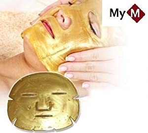 24k Gold Collagen Crystal Mask for Deep Tissue Rejuvenation and Collagen Renewal Mask X 10 Pcs.