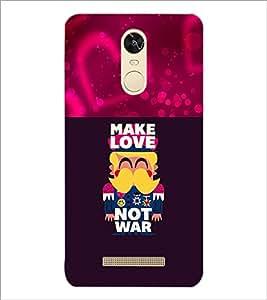 PrintDhaba Love Quote D-1050 Back Case Cover for XIAOMI REDMI NOTE 3 (MEDIATEK) (Multi-Coloured)