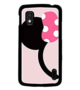 PrintDhaba Minnie Mouse D-1997 Back Case Cover for LG GOOGLE NEXUS 4 (Multi-Coloured)