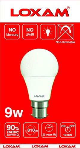 9W B22 LED Bulbs (Cool White, Pack of 4)
