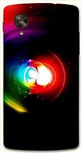 Noticeable multicolor printed protective REBEL mobile back cover for LG Nexus 5 / Google Nexus 5 D.No.N-L-15051-NX5