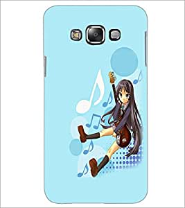 PrintDhaba Guitar Girl D-5617 Back Case Cover for SAMSUNG GALAXY GRAND 3 (Multi-Coloured)