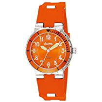 Activa By Invicta Unisex SV012-004Generation Collection Orange Rubber Strap Watch