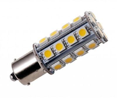 GRV Ba15s 1156 1141 High Power Car LED Bulb 30-5050SMD DC 12V Warm White Pack of 10