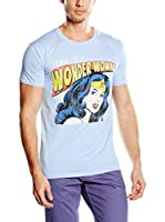 DC Comics Camiseta Manga Corta Looking For A Ww (Azul Celeste)