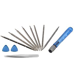PagKis Screwdriver Tool Kit for opening and repairing Mobiles, PDA, Laptop with openers and tweezer ...