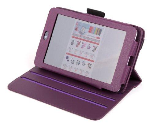 DURAGADGET Premium Quality Purple Leather 360 Degree Rotating Folio Case With Built In Flip Stand Custom Designed For Google Nexus 7 Tablets
