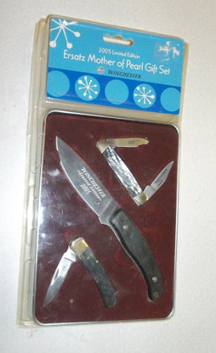 Winchester 2005 Limited Edition Ersatz Mother Of Pearl Knife Gift Set