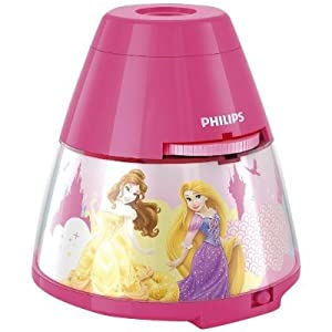 Philips Disney - Proyector LED, luz nocturna, diseño Princesas, color rosa por Philips - BebeHogar.com