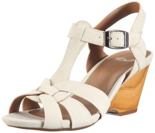Clarks Popple Jive Fashion Sandals Womens Brown Braun (Bone) Size: 6.5 (40 EU)