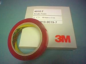 3M VHB 4910F Clear Double Sided Tape; 19mm x 3m Short Length Roll