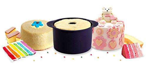 Yoko Design 1259 Moule à Angel Cake Silicone/Platinum Violet Foncé 22,5 x 19 x 11 cm