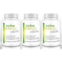 Active Balance - Pharmaceutical Grade Probiotic Supplement (3 bottle) - Contains 50 billion CFU's