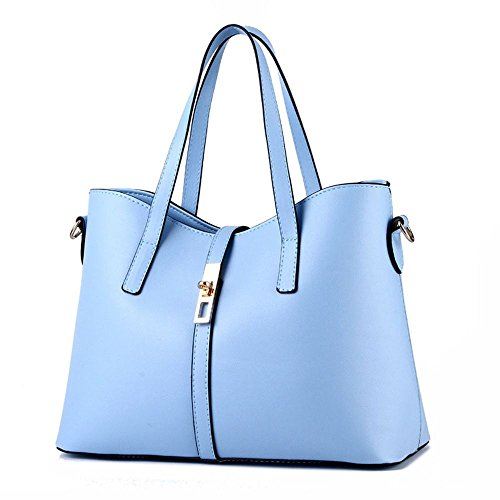 koson-man-womens-pu-leather-sling-vintage-zipper-decorate-tote-bags-top-handle-handbaglakeblue