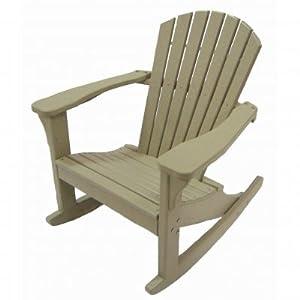 Perfect Choice Furniture Adirondack Rocking Chair Camel Patio Rocking Chairs