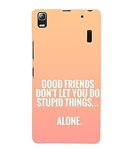 EPICCASE Friendship Quote Mobile Back Case Cover For Lenovo K3 Note (Designer Case)