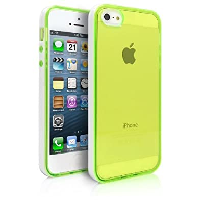 iPhone 5 Case, LUOLNH Transparent Back Case for Apple iPhone 5/5S Hard TPU Case Protective iPhone 5/5S Clear Case with Plastic Bumper Cute iPhone 5/5S Green Case by LUOLNH