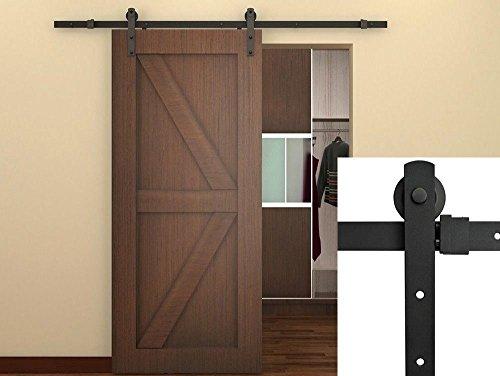 ace-trades-6ft-sliding-door-track-hardware-kit-country-barn-door-hardware-black-steel