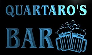 w103035 b QUARTARO Name Home Bar Pub Beer Mugs Cheers Neon Light Sign