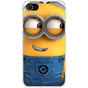 eBayke® DCM-08 Apple iPhone 4S 4G iPhone4 At&t Sprint Verizon Funny Cartoon Movie Despicable Me Cute Minions Minion Pattern Snap-on Protective Skin Case Cover