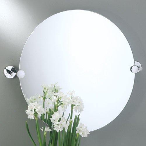 Latitude Ii Brass Round Tilting Mirror - Satin front-743066