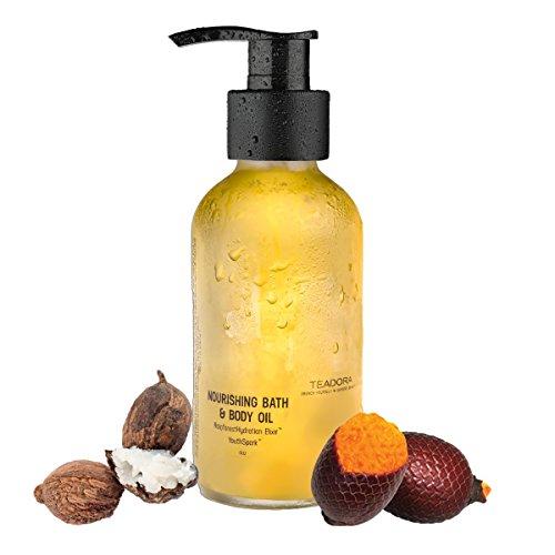 Teadora Brazilian Glow Multifunction Bath and Body Oil, 4 Ounce Brazilian Bath