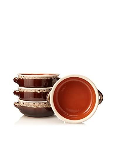 COLI Bakeware Set of 4 Rustic French Soup Bowls, Vanilla