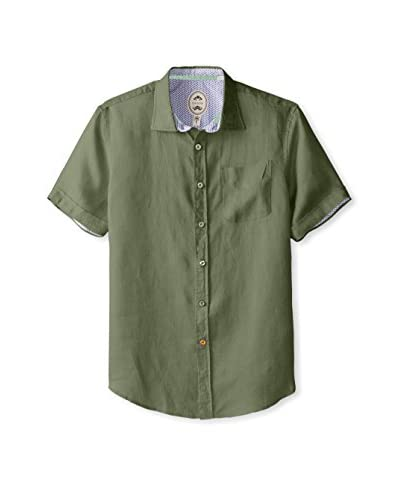 Ganesh Men's Short Sleeve Linen Shirt