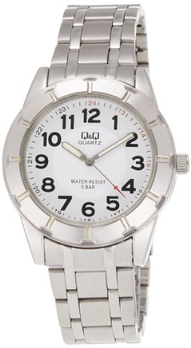 Q&Q Analog White Dial Men's Watch - Q582J204Y