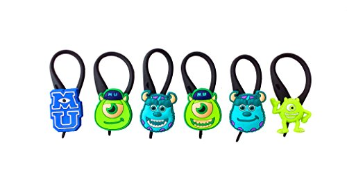 AVIRGO 6 pcs Soft Zipper Pull Charms for Backpack Bag Pendant Jacket Set # 78-3