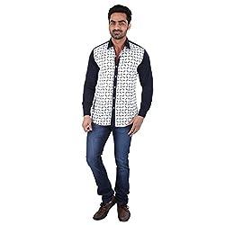 Pierrot's Cotton::Sateen Casual Shirt For Men-XL