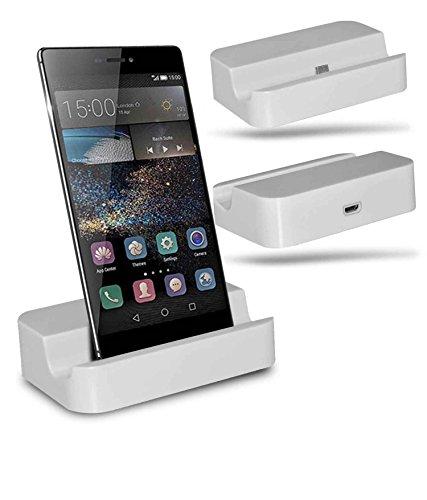 Huawei P8 Station d'accueil de bureau avec chargeur Micro USB support de chargement - White - By Gadget Giant®