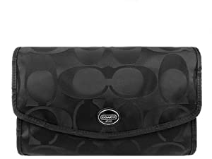 Coach Getaway Signature Nylon Cosmetic Kit F77392, One Size, Black
