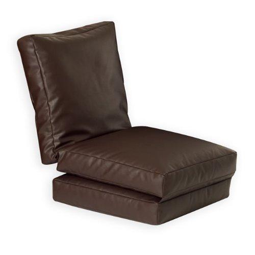 Z Lounger Single BROWN Faux Leather Beanbag
