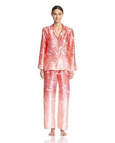 Oscar de la Renta Signature Women's Charmeuse Pajama Set  [Pink Regal]
