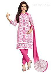 Venisa Pure Cambric Cotton Pink Color Salwar Suit Dress Material