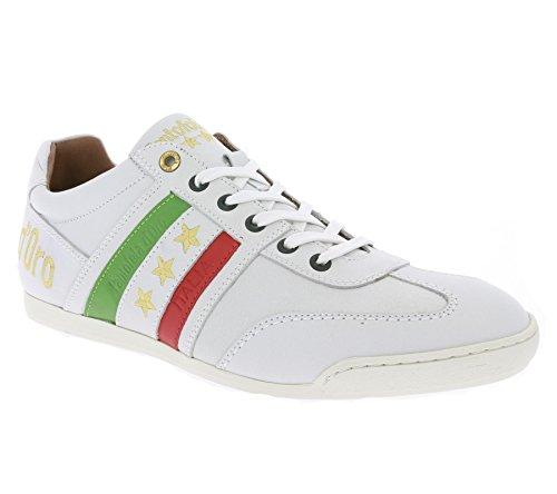 Pantofola d'Oro - Scarpe da Ginnastica Basse Uomo , Bianco (bianco), 44 EU / 11 US