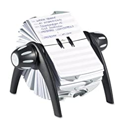 DBL241601 - Durable TELINDEX Rotary Address Card File Holds 500 4 1/8 x 2 7/8 Cards