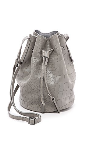 Halston Heritage Bucket Cross Body Bag, H Grey, One Size front-413488