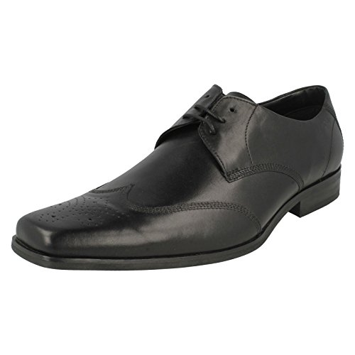 Clarks - Sandali con Zeppa uomo , nero (Black Leather), 42.5